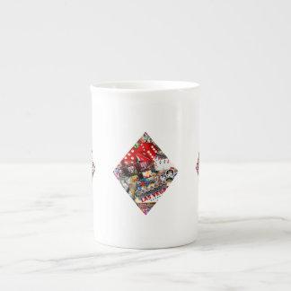 Diamante - forma del naipe de Las Vegas Taza De Porcelana