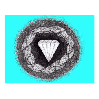 Diamante formado bajo gran presión postales