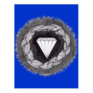 Diamante formado bajo gran presión tarjetas postales