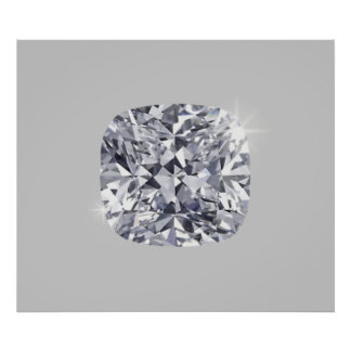 Diamante formado póster