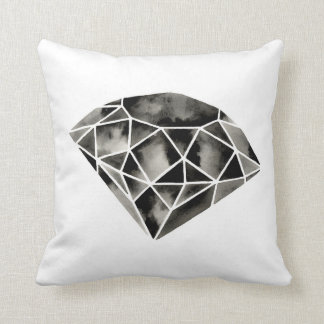Diamante geométrico. Moderno. Blanco negro. Cojín