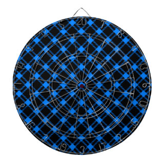 Diamante grande de tres bandas - azul en negro tabla dardos