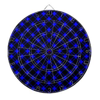 Diamante grande de tres bandas - azul en negro tablero dardos