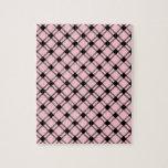 Diamante grande de tres bandas - negro en rosa puzzle