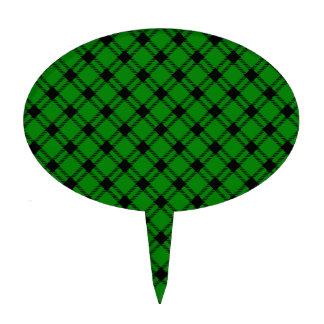 Diamante grande de tres bandas - negro en verde figura para tarta