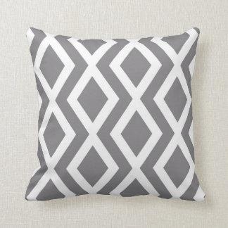 Diamante gris almohada