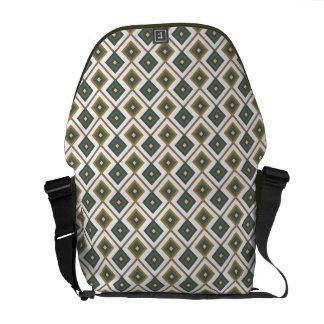 Diamante in green courier bag