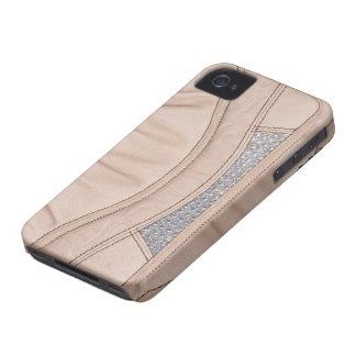 Diamante  leather Diary Case - photo print iPhone 4 Cases