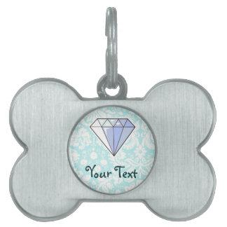 Diamante; Lindo Placas De Mascota