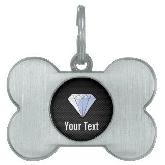 Diamante liso placa de mascota