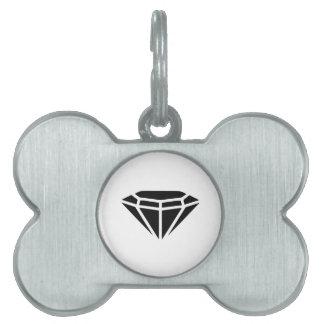Diamante Placas De Nombre De Mascota