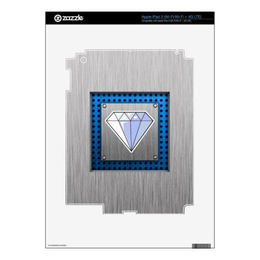 Diamante; Metal-mirada cepillada iPad 3 Skins