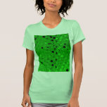 Diamante metálico brillante descarado del verde es camiseta