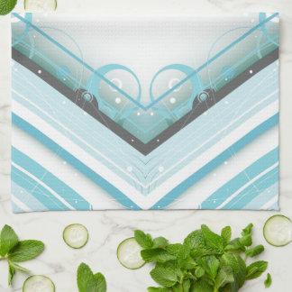 Diamante Moderno-Retro de la raya de los azules cl Toalla De Mano