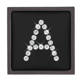 Diamante Monogram_Initial una caja de regalo super Cajas De Regalo De Calidad