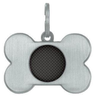 Diamante negro Bling Placa De Mascota