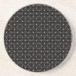 Diamante negro Bling Posavasos Diseño
