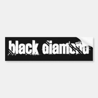 Diamante negro etiqueta de parachoque