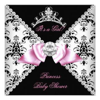 Diamante negro de la princesa fiesta de bienvenida invitación