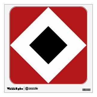 Diamante negro, frontera blanca intrépida en rojo vinilo