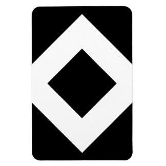 Diamante negro, frontera blanca intrépida imanes de vinilo