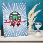 Diamante negro, WA Placa De Plastico