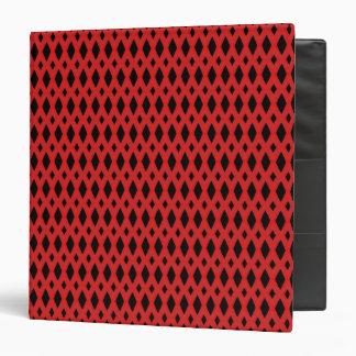 "Diamante negro y rojo 1,5"" carpeta"
