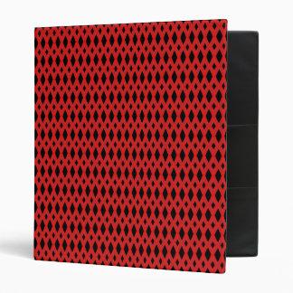 "Diamante negro y rojo 1"" carpeta"