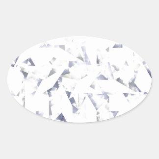 Diamante Pegatina Ovalada