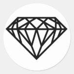 diamante pegatinas redondas