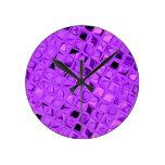 Diamante púrpura Amethyst metálico brillante de la Relojes