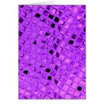 Diamante púrpura Amethyst metálico brillante de la Tarjetón