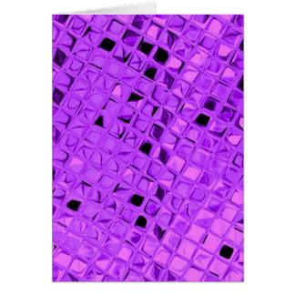 Diamante púrpura Amethyst metálico brillante de la Tarjeta De Felicitación