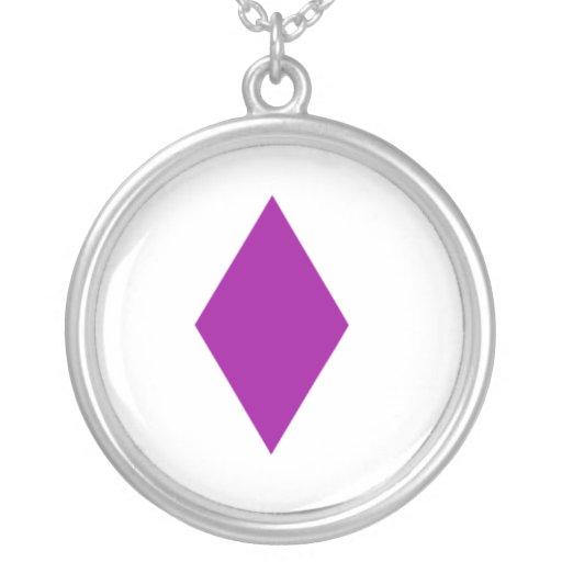 Diamante púrpura colgante redondo