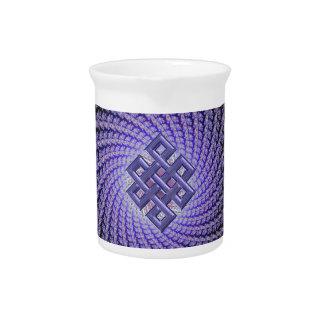 Diamante púrpura del Celtic del fractal de Spral Jarrón