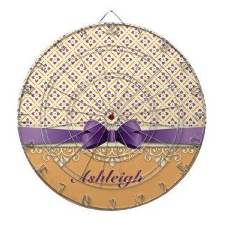 Diamante púrpura del naranja del Flourish del