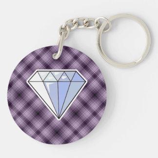 Diamante púrpura llaveros