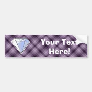 Diamante púrpura pegatina para auto