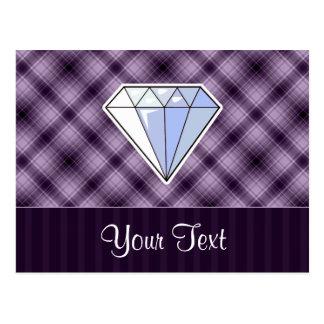 Diamante púrpura postales