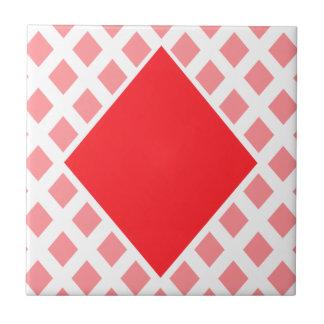 Diamante rojo - juego de tarjetas de juego teja