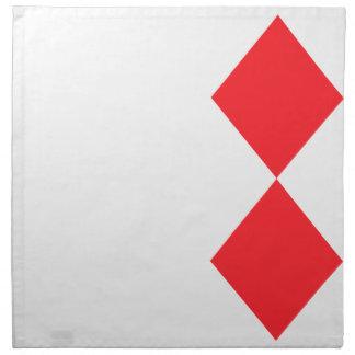 Diamante rojo - juego de tarjetas de juego servilletas