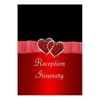Diamante rojo y negro que cierra casarse de los co plantilla de tarjeta de negocio