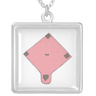 Diamante rosado collar personalizado
