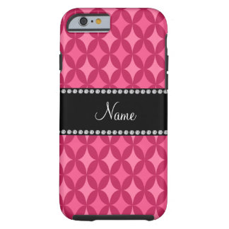 Diamante rosado conocido personalizado del círculo funda de iPhone 6 tough