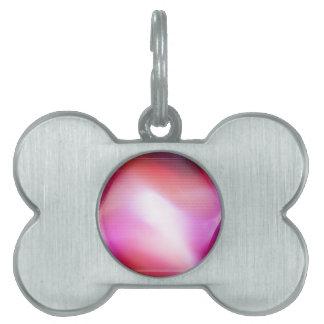 Diamante rosado de los cristales abstractos placa de nombre de mascota