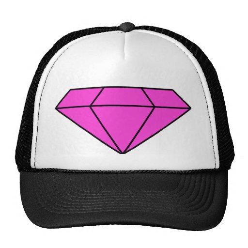 Diamante rosado gorros