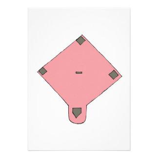 Diamante rosado invitación