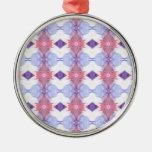 Diamante suavemente rosado y azul modelado ornamento para reyes magos