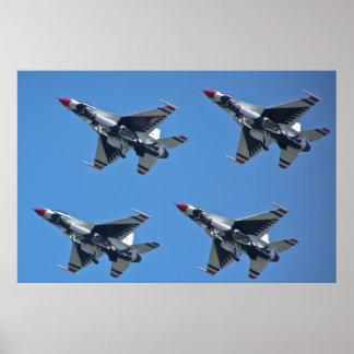 Diamante sucio de los Thunderbirds del U.S.A.F. Póster