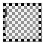 Diamante-Tablero de damas blanco y negro Pizarras Blancas